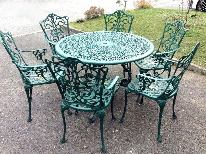 bàn ghế sắt mỹ nghệ xanh