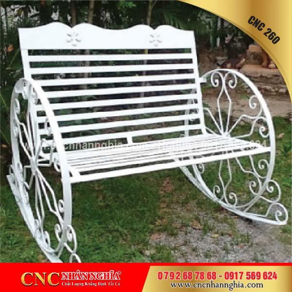 bàn ghế sắt hoa văn cnc 260