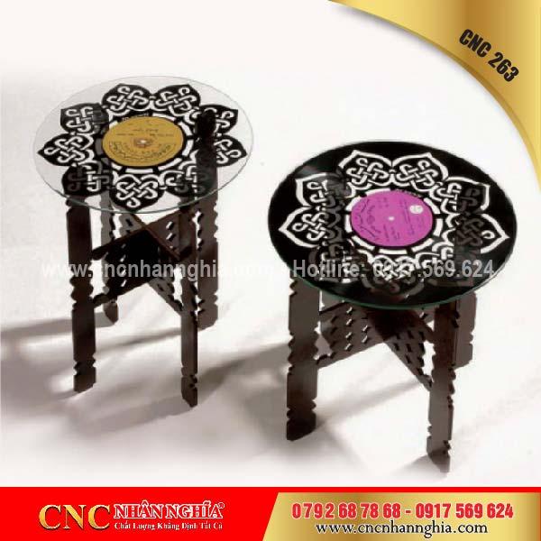 bàn ghế sắt mỹ nghệ cnc 263
