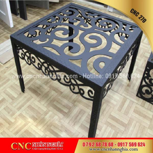 bàn ghế sắt mỹ nghệ cnc 270