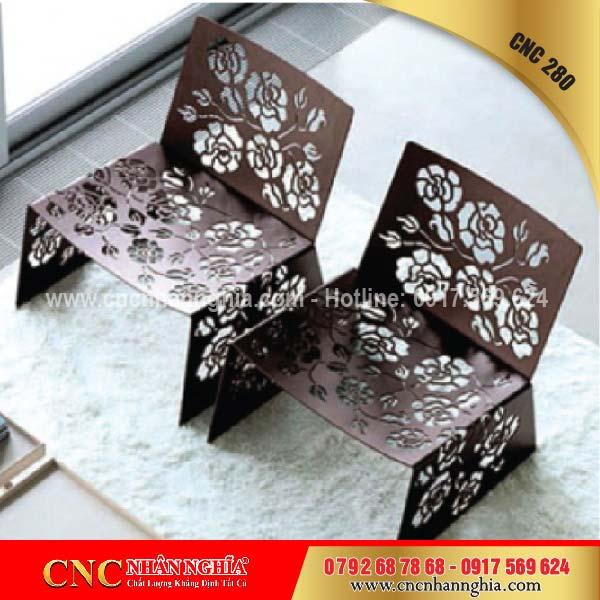 bàn ghế sắt mỹ nghệ cnc 280