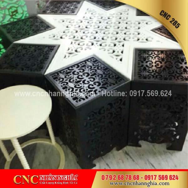 bàn ghế sắt mỹ nghệ cnc 285