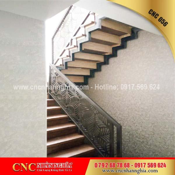 mẫu cầu thang sắt đẹp 056