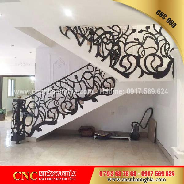 mẫu cầu thang sắt đẹp 060