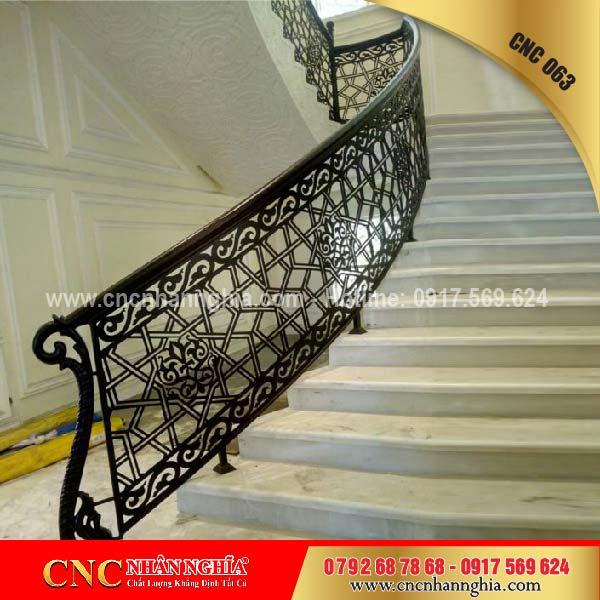 mẫu cầu thang sắt đẹp 063