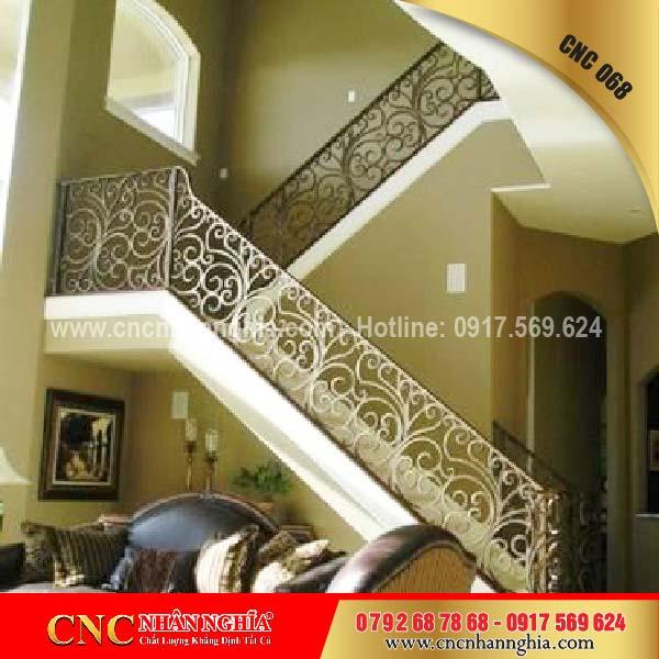 mẫu cầu thang sắt đẹp 068