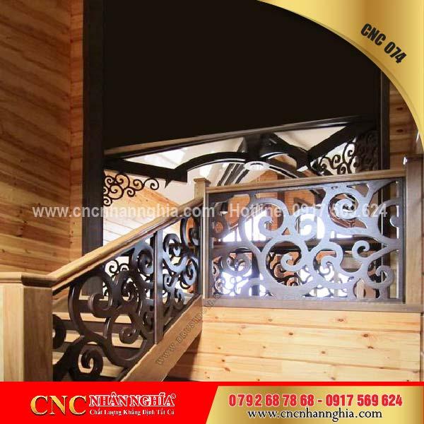 mẫu cầu thang sắt đẹp 074