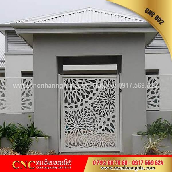 cửa cổng sắt mỹ thuật cnc 002