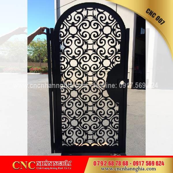 cửa cổng sắt mỹ thuật cnc 007