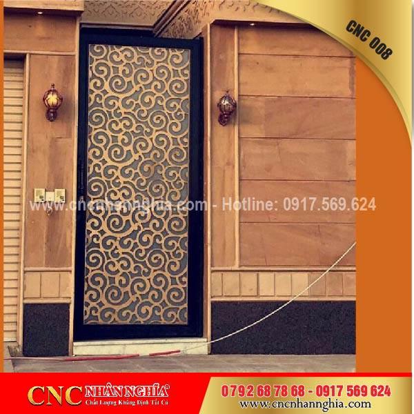 cửa cổng sắt mỹ thuật cnc 008