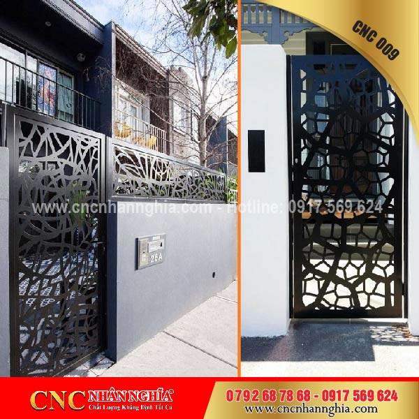 cửa cổng sắt mỹ thuật cnc 009