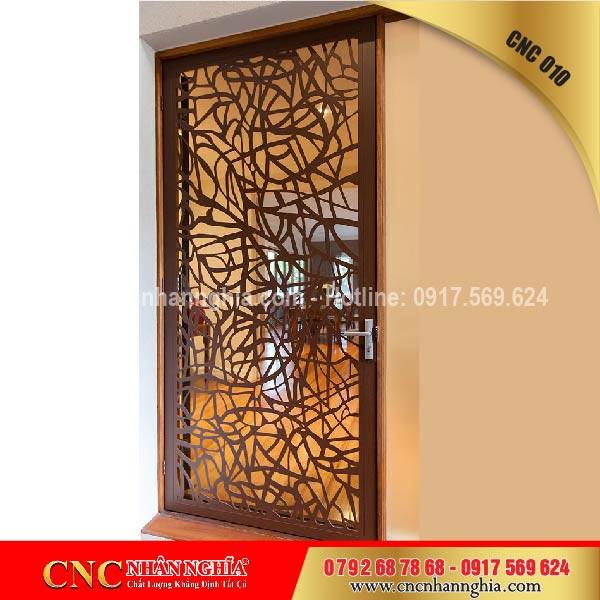 cửa cổng sắt mỹ thuật cnc 010