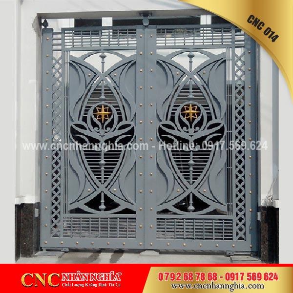 cửa sắt hoa văn cnc 014