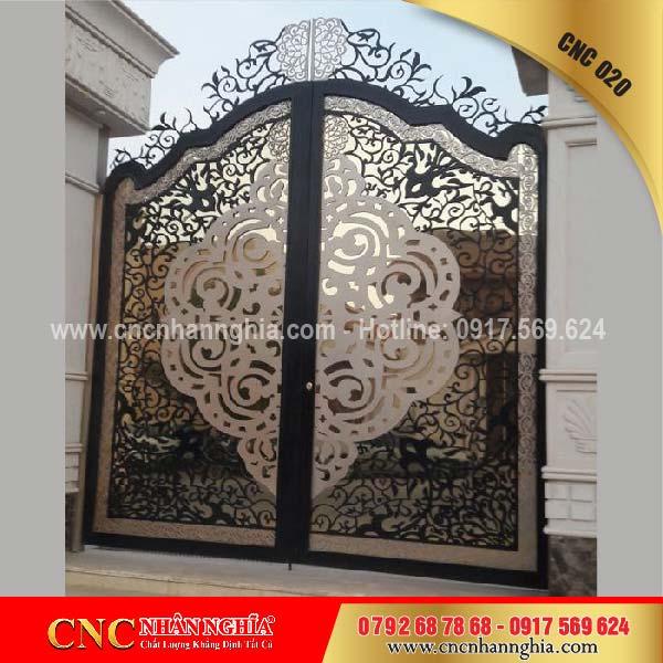 cửa sắt hoa văn cnc 020