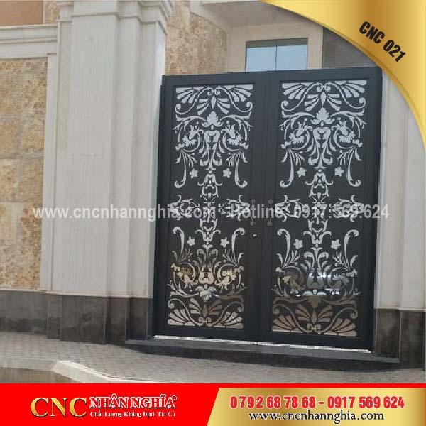 cửa sắt hoa văn cnc 021
