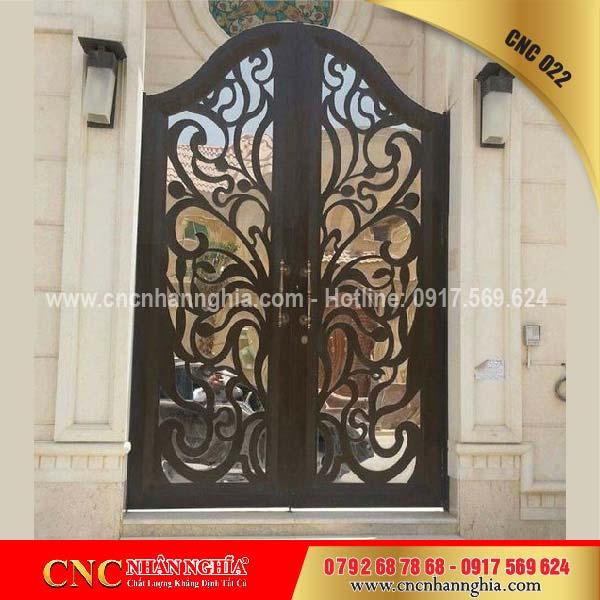 cửa sắt hoa văn cnc 022