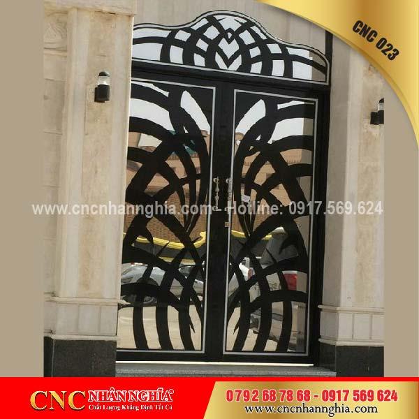 cửa sắt hoa văn cnc 023