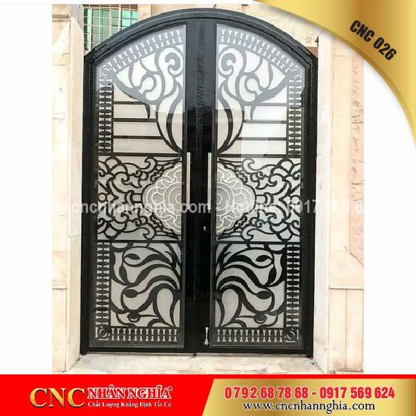 cửa sắt hoa văn cnc 026