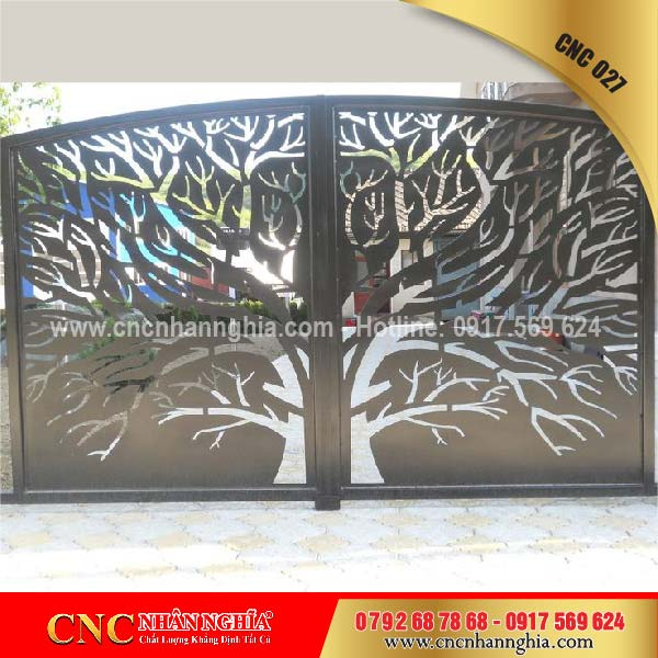 cửa sắt hoa văn cnc 027
