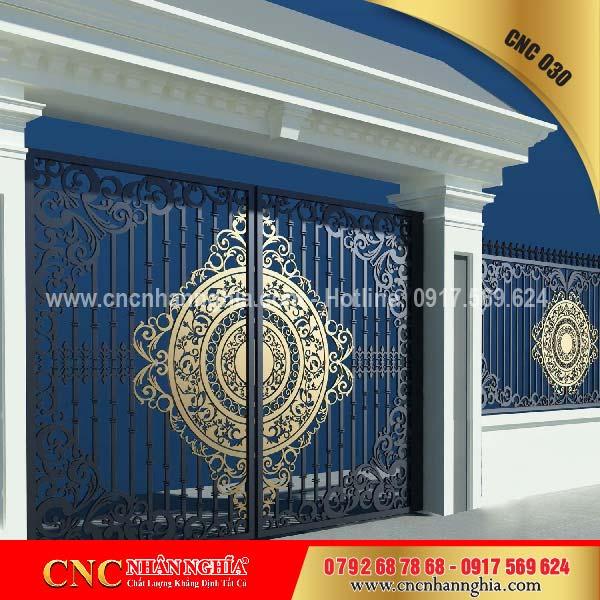 cửa sắt hoa văn cnc 030