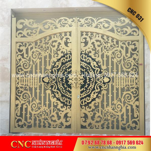 cửa sắt hoa văn cnc 031