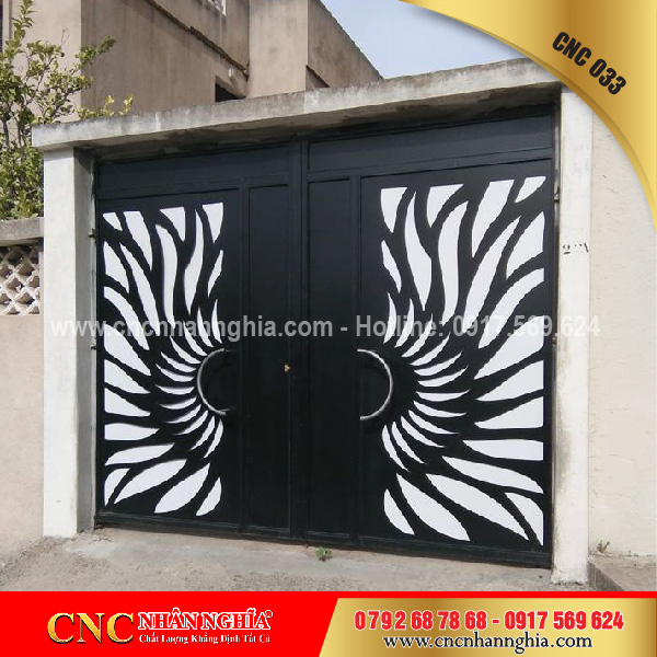 cửa sắt hoa văn cnc 033