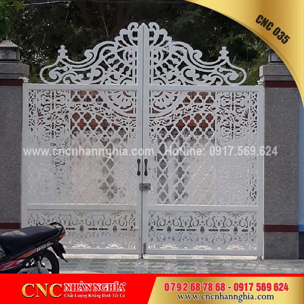 cửa sắt hoa văn cnc 035