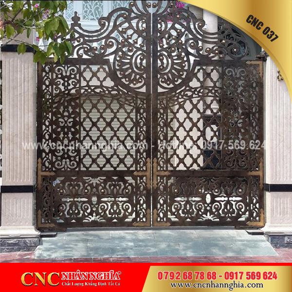 cửa sắt hoa văn cnc 037