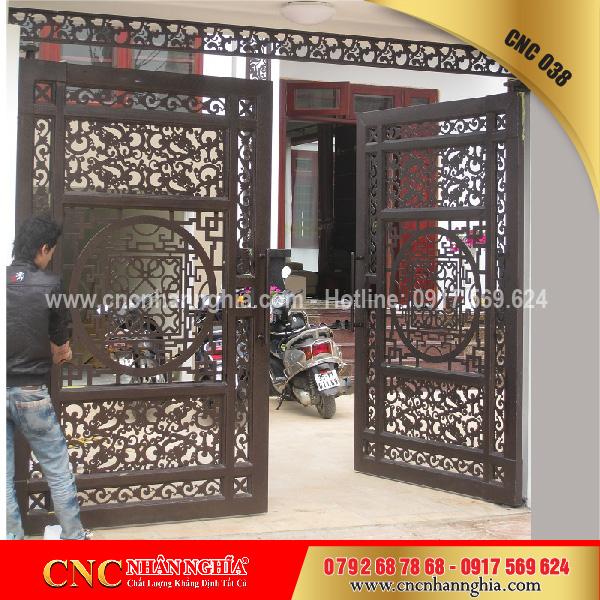 cửa sắt hoa văn cnc 038