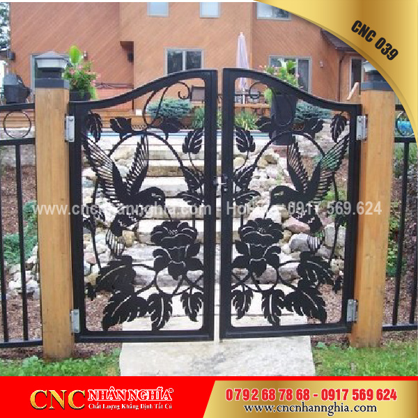 cửa sắt hoa văn cnc 039