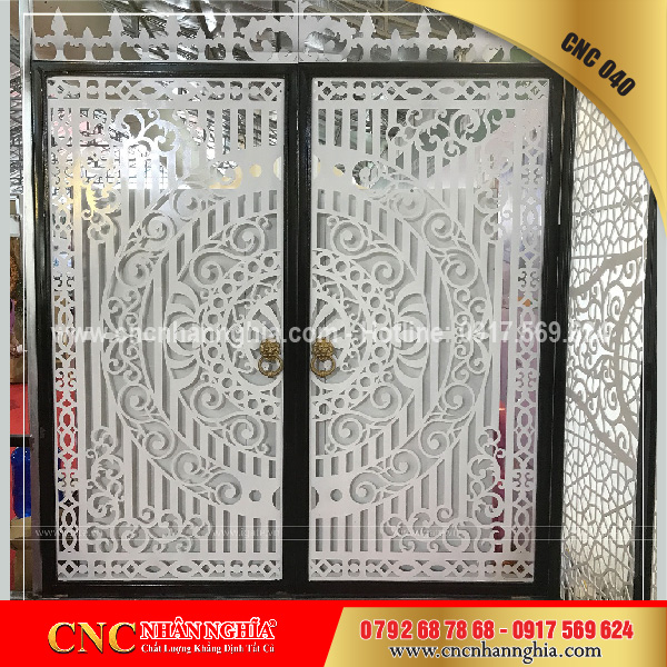 cửa sắt hoa văn cnc 040