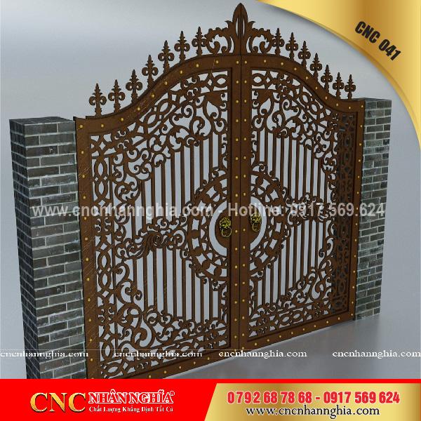 cửa sắt hoa văn cnc 041