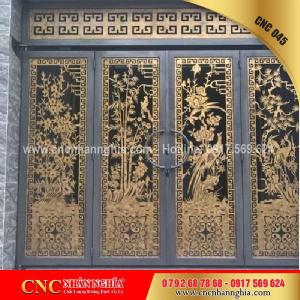 cửa sắt nghệ thuật cnc 045