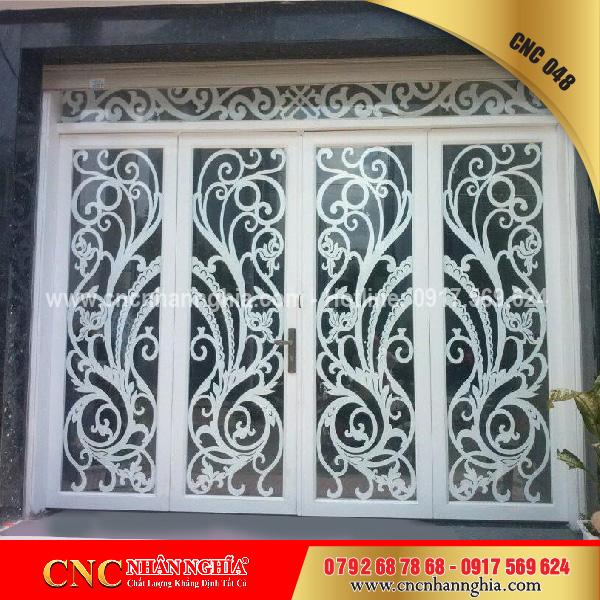 cửa sắt nghệ thuật cnc 048