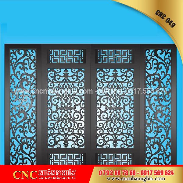 cửa sắt nghệ thuật cnc 049
