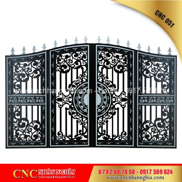 cửa sắt nghệ thuật cnc 051