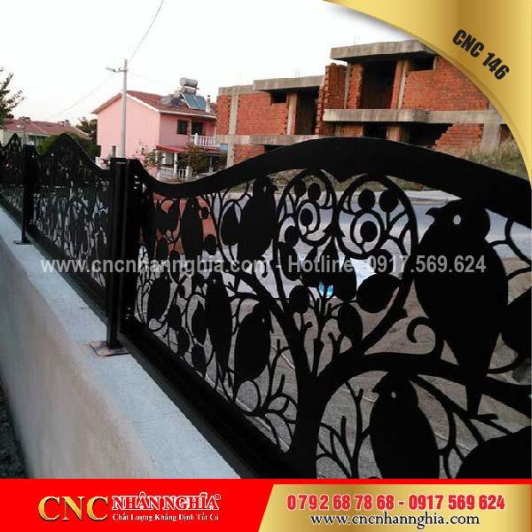 mẫu hàng rào sắt mỹ thuật 146