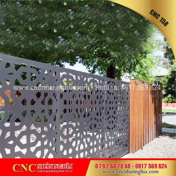 mẫu hàng rào sắt mỹ thuật 158