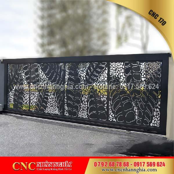 mẫu hàng rào sắt mỹ thuật 170