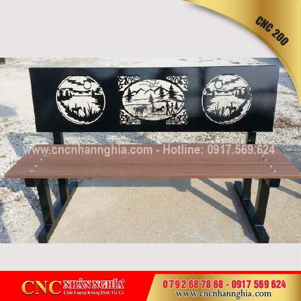 băng ghế sắt nghệ thuật