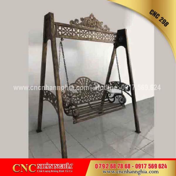 ghế xích đu bằng sắt nghệ thuật 298